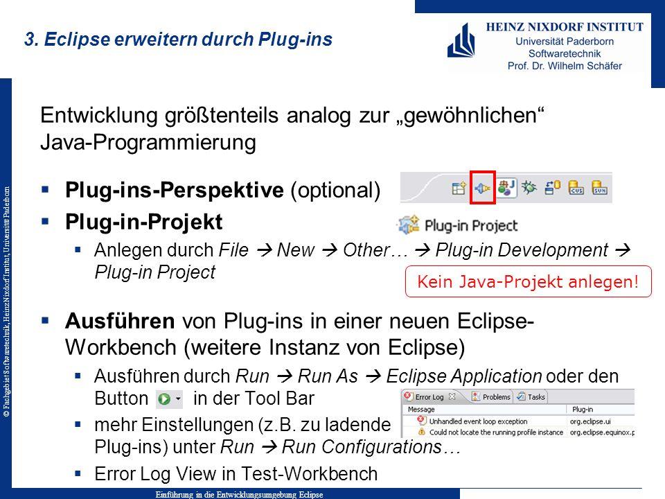 3. Eclipse erweitern durch Plug-ins
