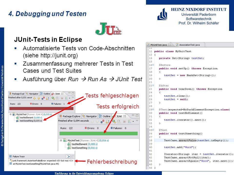 Einführung in die Entwicklungsumgebung Eclipse