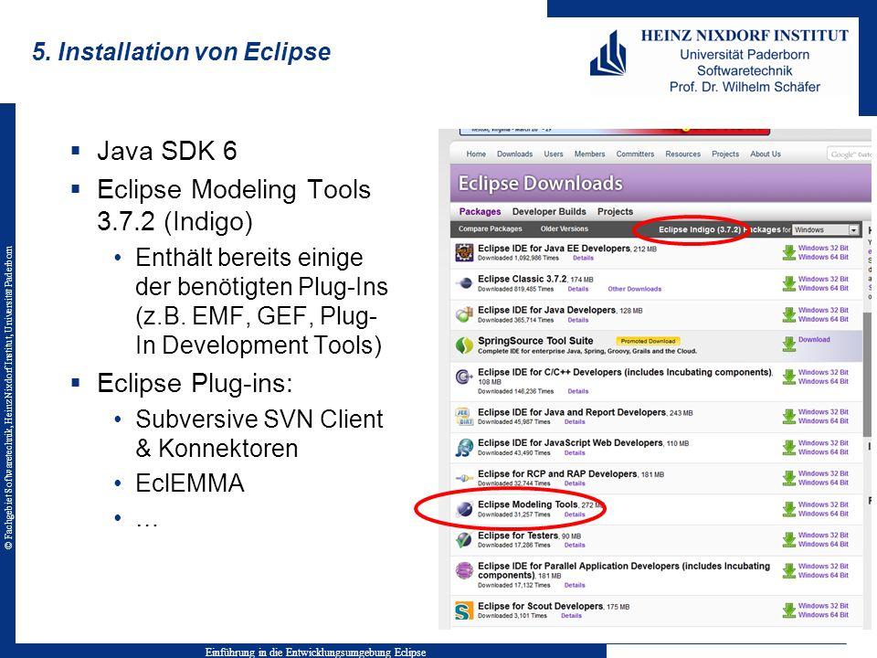 5. Installation von Eclipse