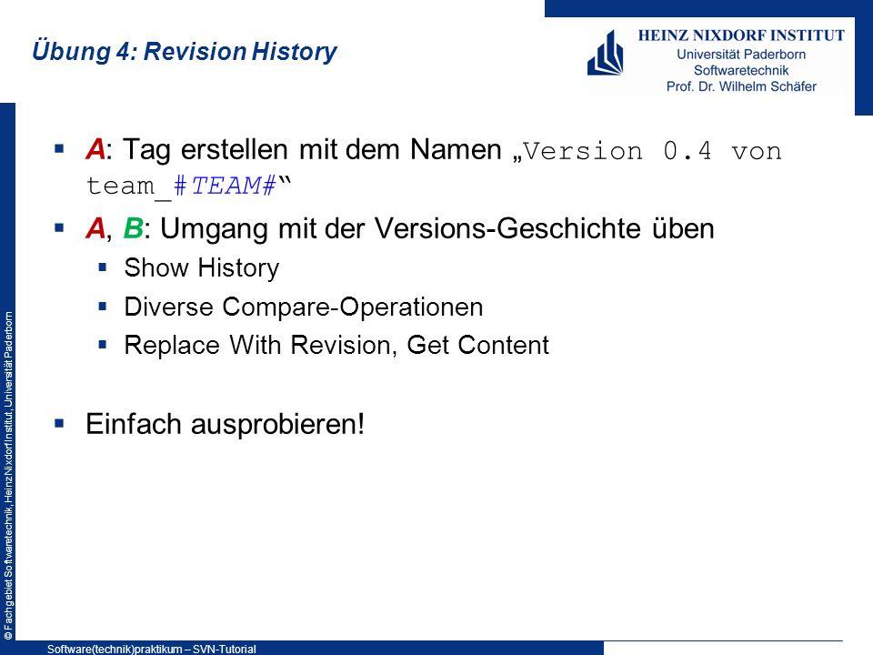 Übung 4: Revision History