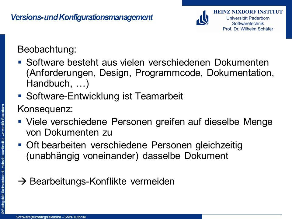 Versions- und Konfigurationsmanagement