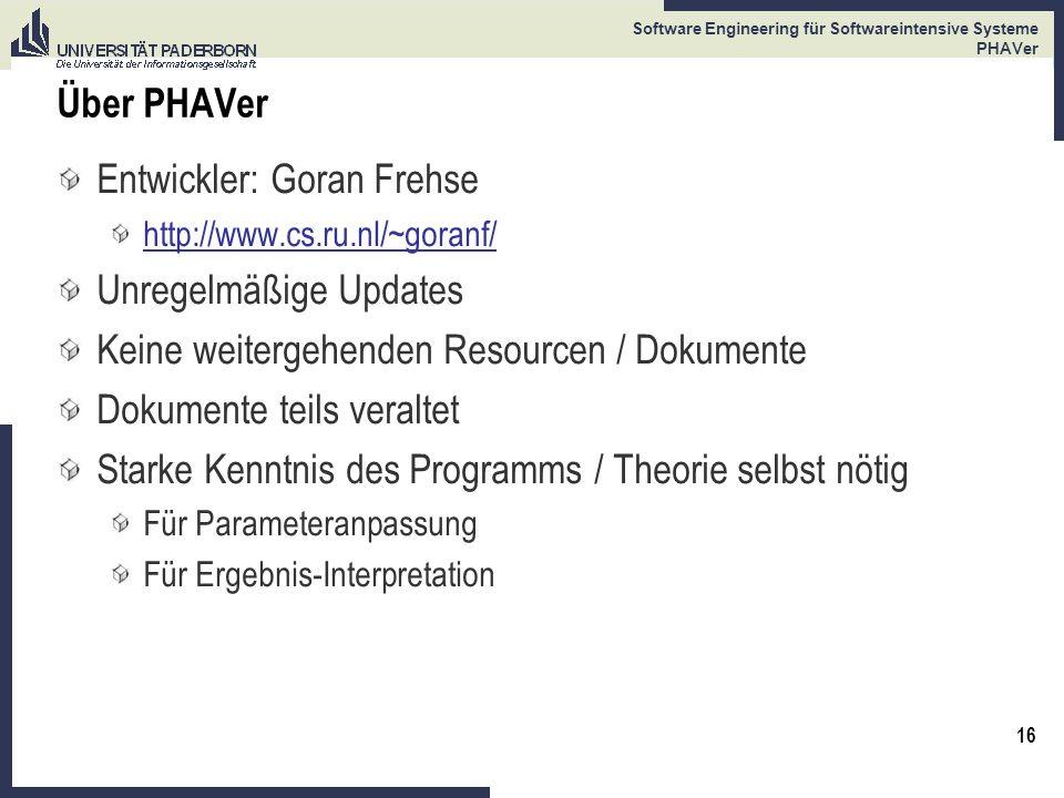 Entwickler: Goran Frehse Unregelmäßige Updates