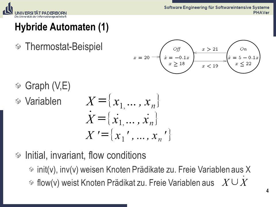 X x ... , X x ... , X x , ... Hybride Automaten (1)