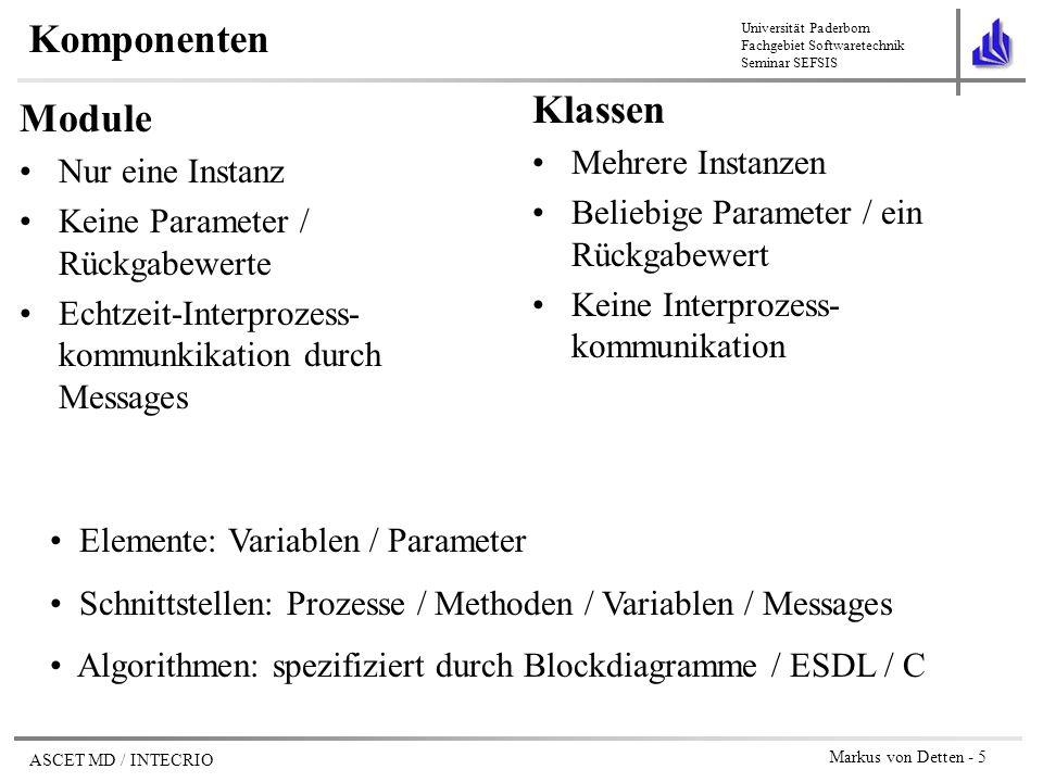 Komponenten Klassen Module Mehrere Instanzen Nur eine Instanz