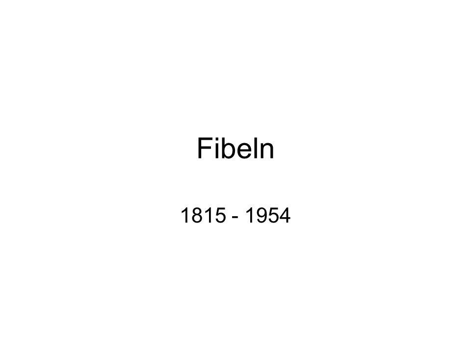 Fibeln 1815 - 1954