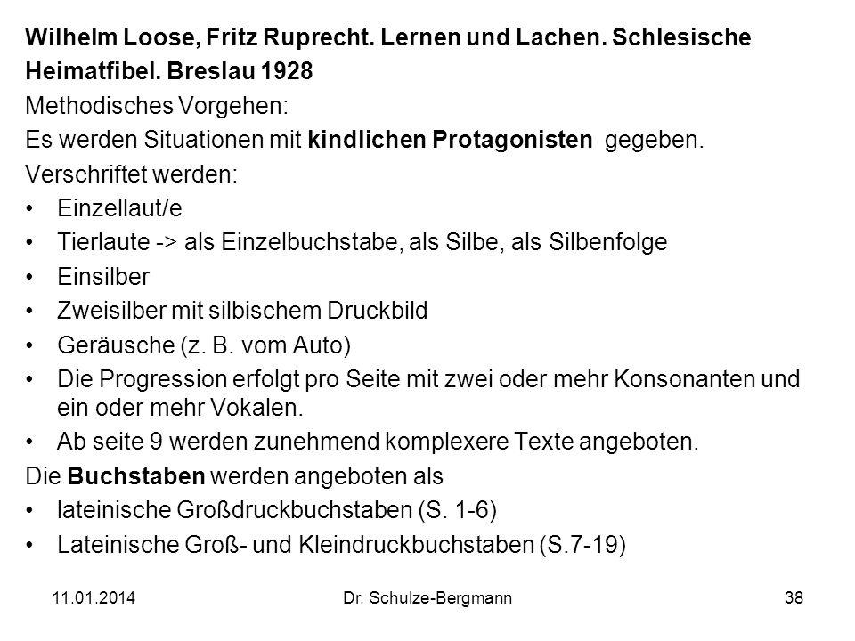 Wilhelm Loose, Fritz Ruprecht. Lernen und Lachen. Schlesische