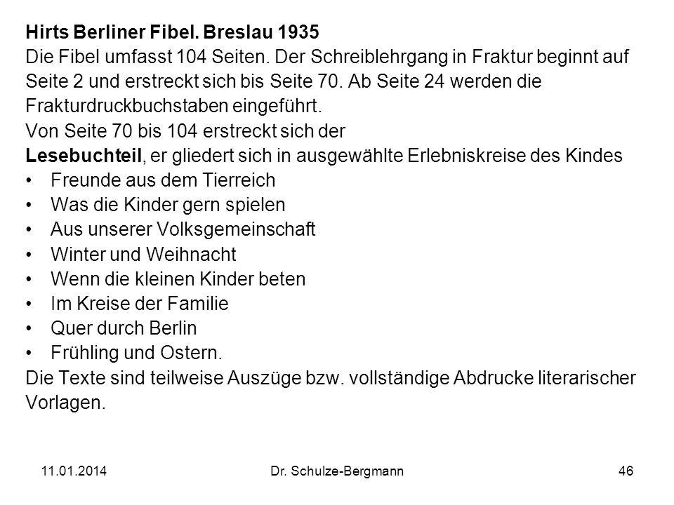 Hirts Berliner Fibel. Breslau 1935