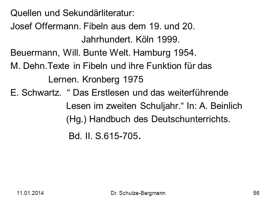 Quellen und Sekundärliteratur: