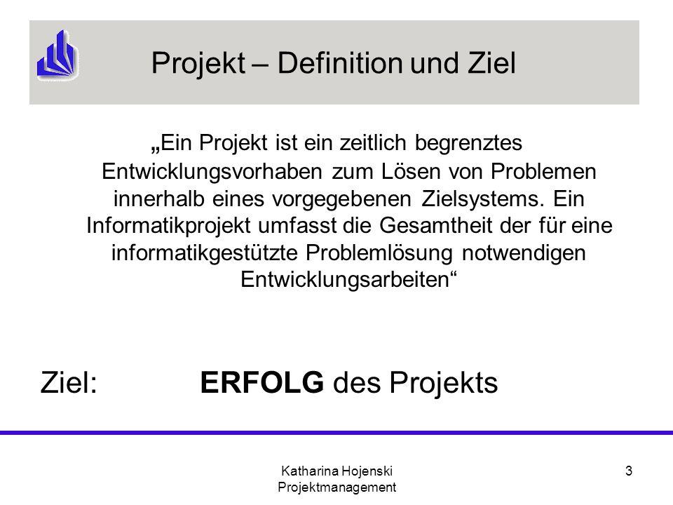 Projekt – Definition und Ziel