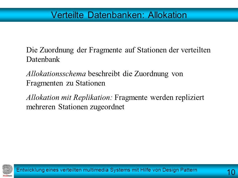 Verteilte Datenbanken: Allokation