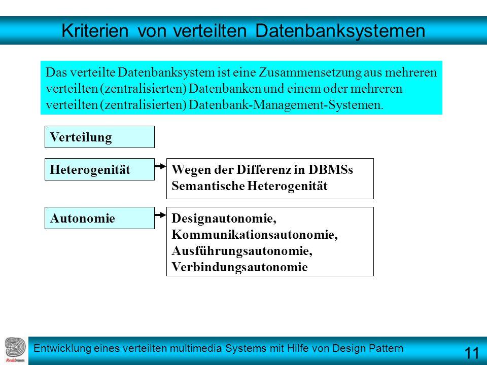 Kriterien von verteilten Datenbanksystemen