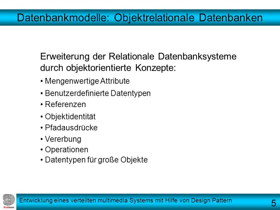 Datenbankmodelle: Objektrelationale Datenbanken