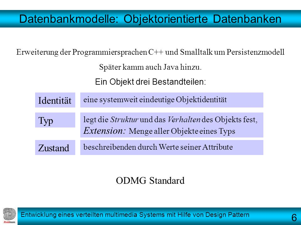 Datenbankmodelle: Objektorientierte Datenbanken