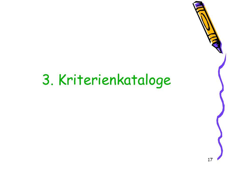 3. Kriterienkataloge