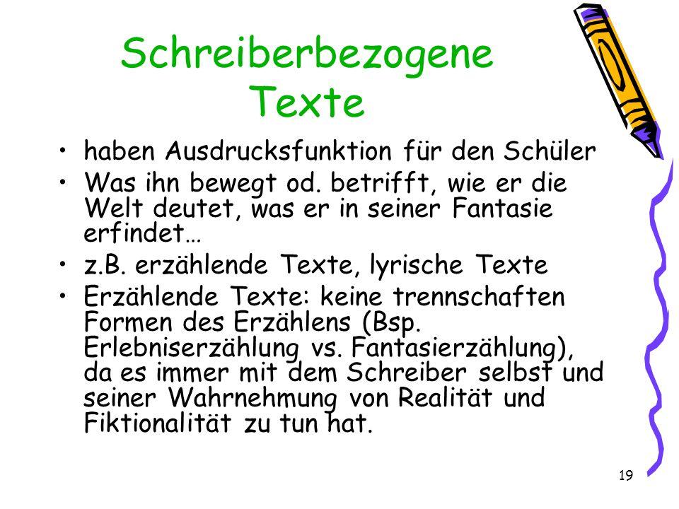 Schreiberbezogene Texte