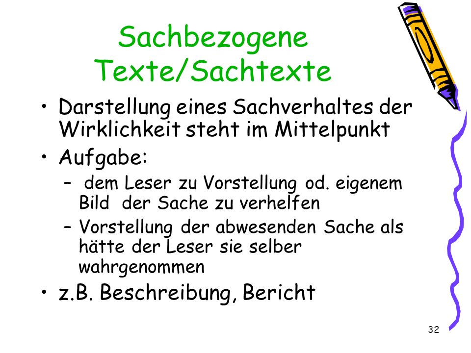 Sachbezogene Texte/Sachtexte