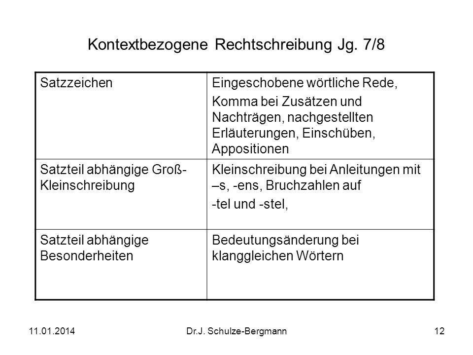 Kontextbezogene Rechtschreibung Jg. 7/8