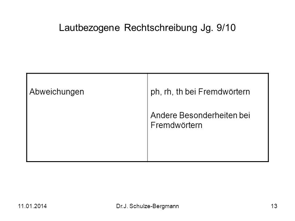 Lautbezogene Rechtschreibung Jg. 9/10