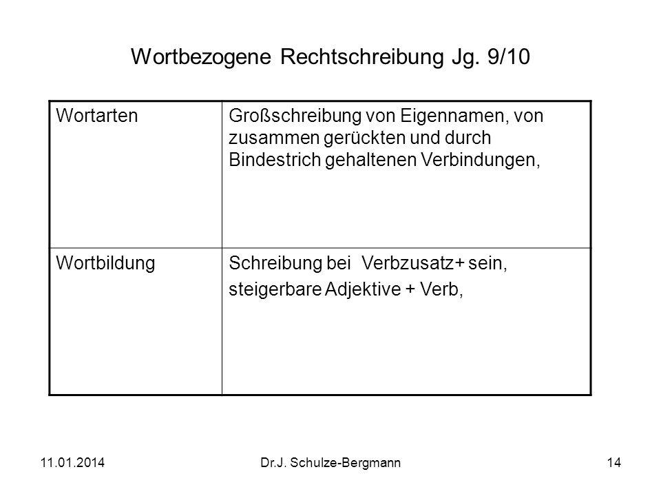 Wortbezogene Rechtschreibung Jg. 9/10