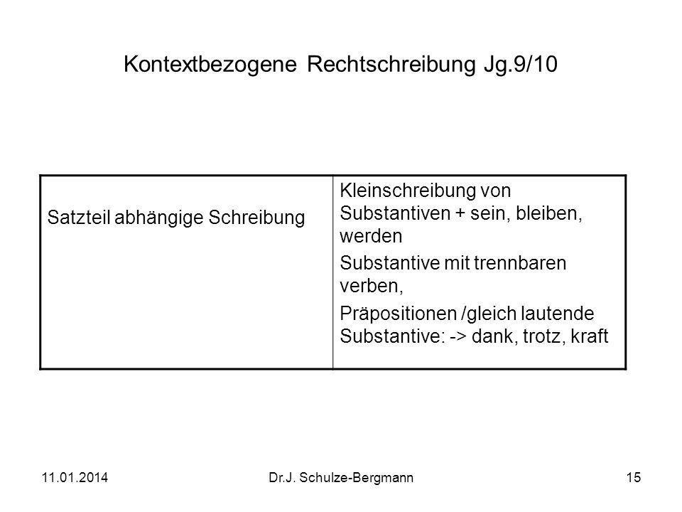 Kontextbezogene Rechtschreibung Jg.9/10