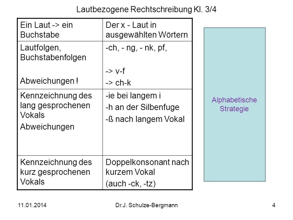 Lautbezogene Rechtschreibung Kl. 3/4
