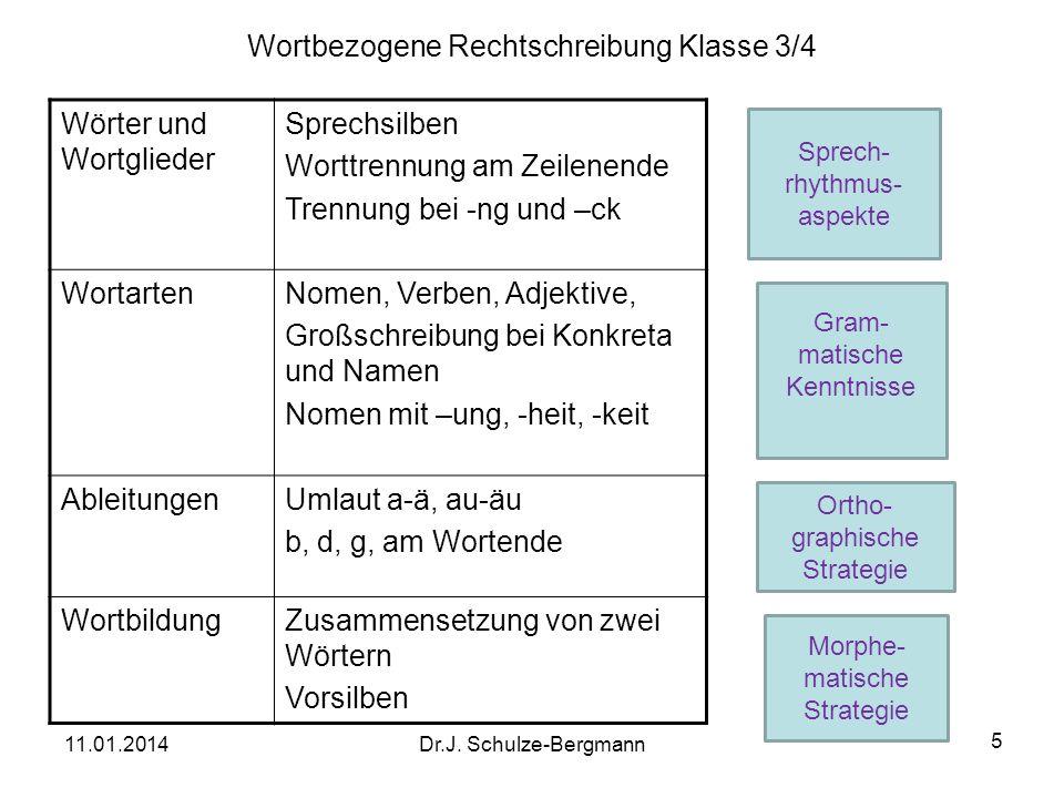 Wortbezogene Rechtschreibung Klasse 3/4