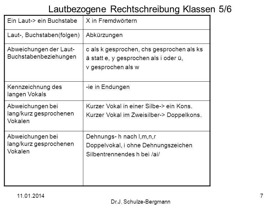 Lautbezogene Rechtschreibung Klassen 5/6