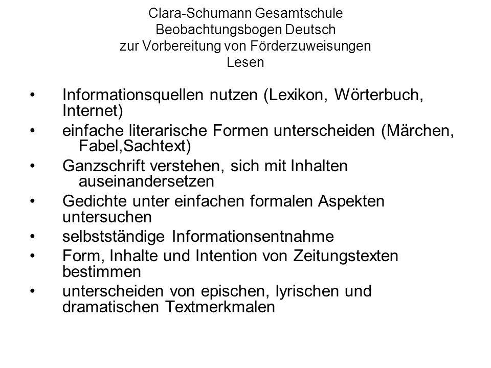 Informationsquellen nutzen (Lexikon, Wörterbuch, Internet)