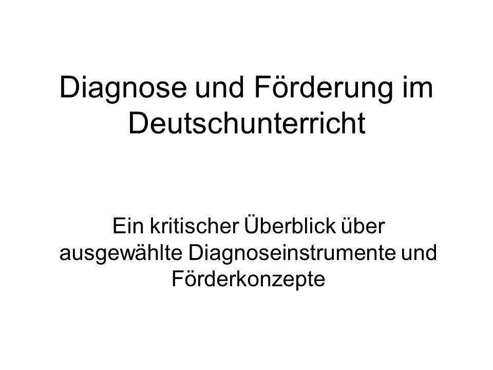 Diagnose und Förderung im Deutschunterricht