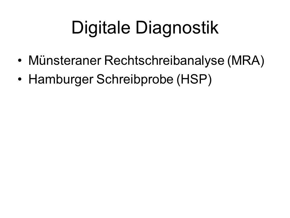 Digitale Diagnostik Münsteraner Rechtschreibanalyse (MRA)