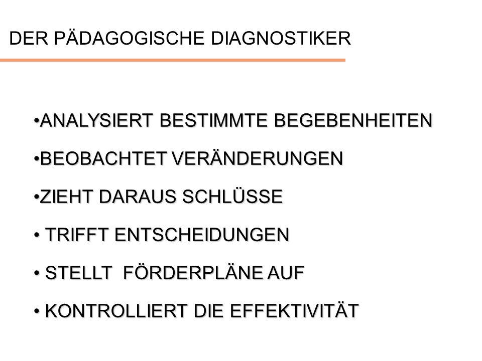 DER PÄDAGOGISCHE DIAGNOSTIKER