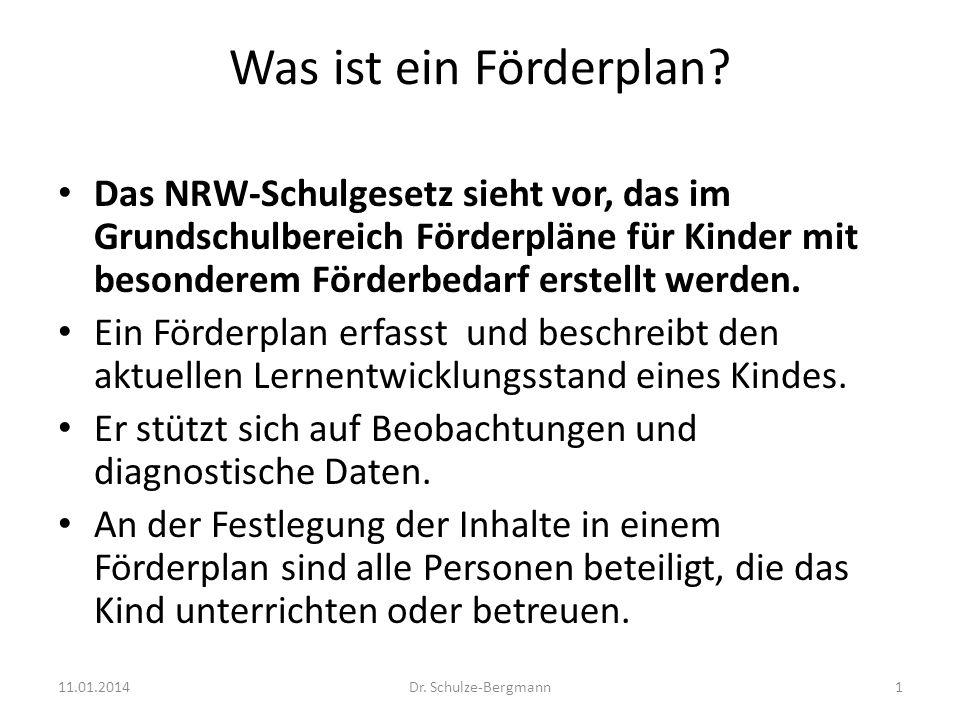 Was ist ein Förderplan Das NRW-Schulgesetz sieht vor, das im Grundschulbereich Förderpläne für Kinder mit besonderem Förderbedarf erstellt werden.