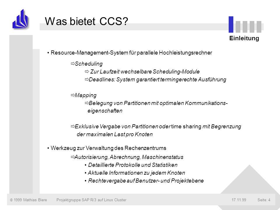 Was bietet CCS Einleitung