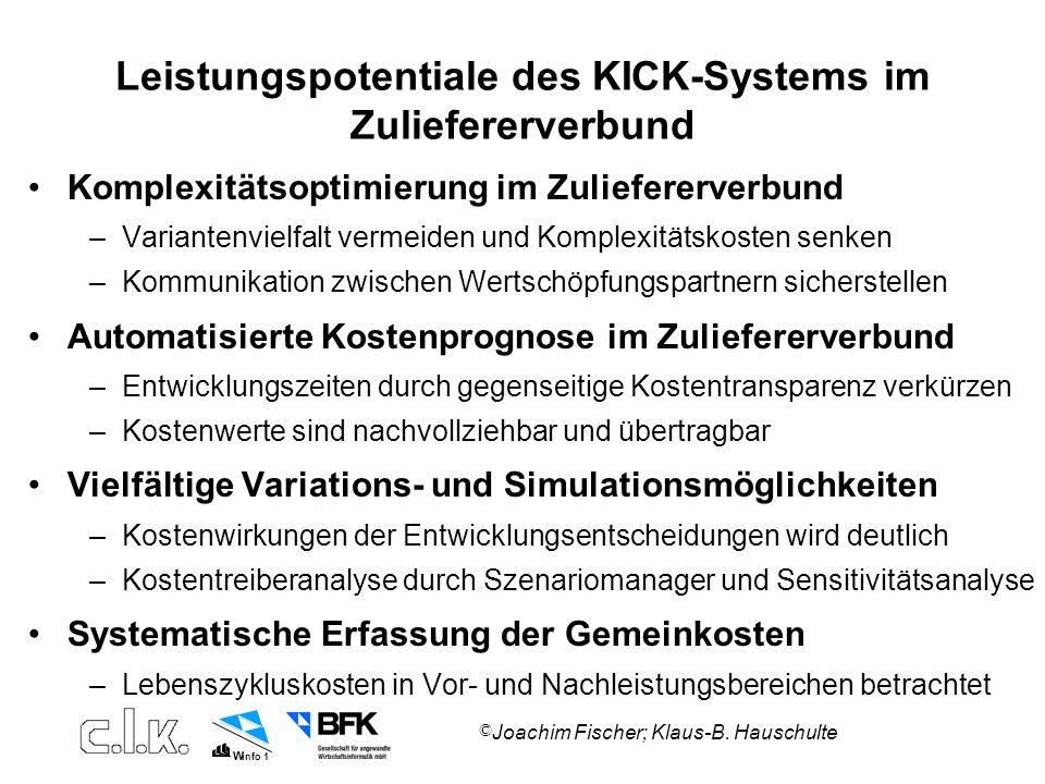 Leistungspotentiale des KICK-Systems im Zuliefererverbund