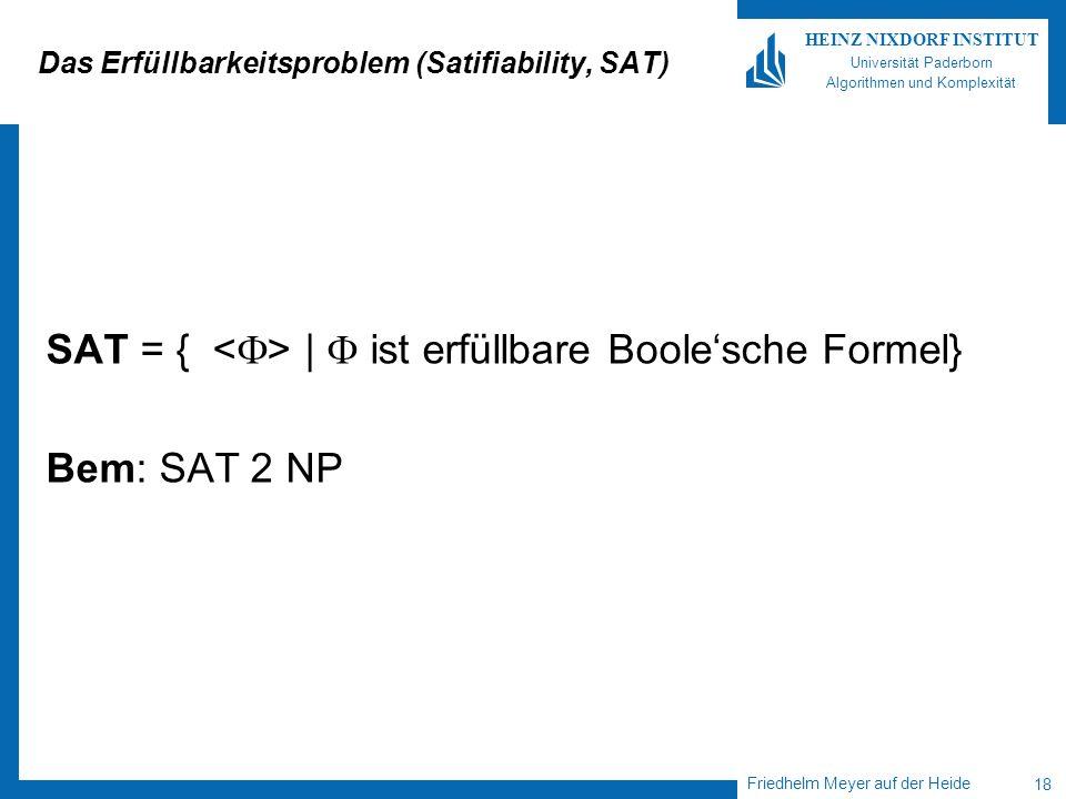 Das Erfüllbarkeitsproblem (Satifiability, SAT)