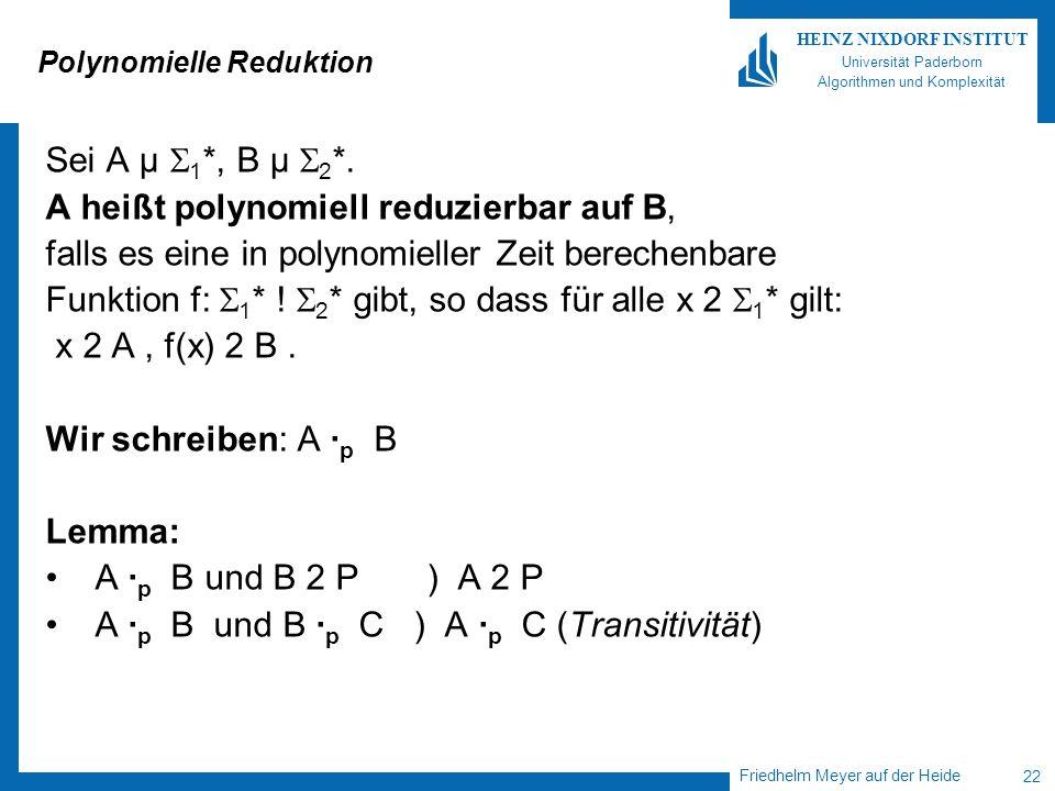 Polynomielle Reduktion