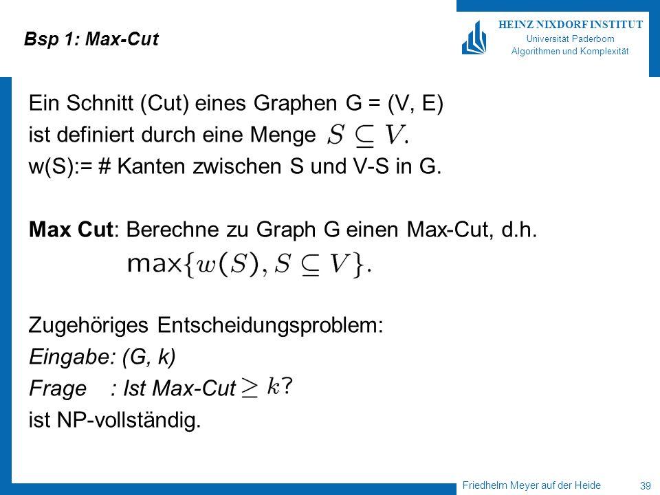 Ein Schnitt (Cut) eines Graphen G = (V, E)