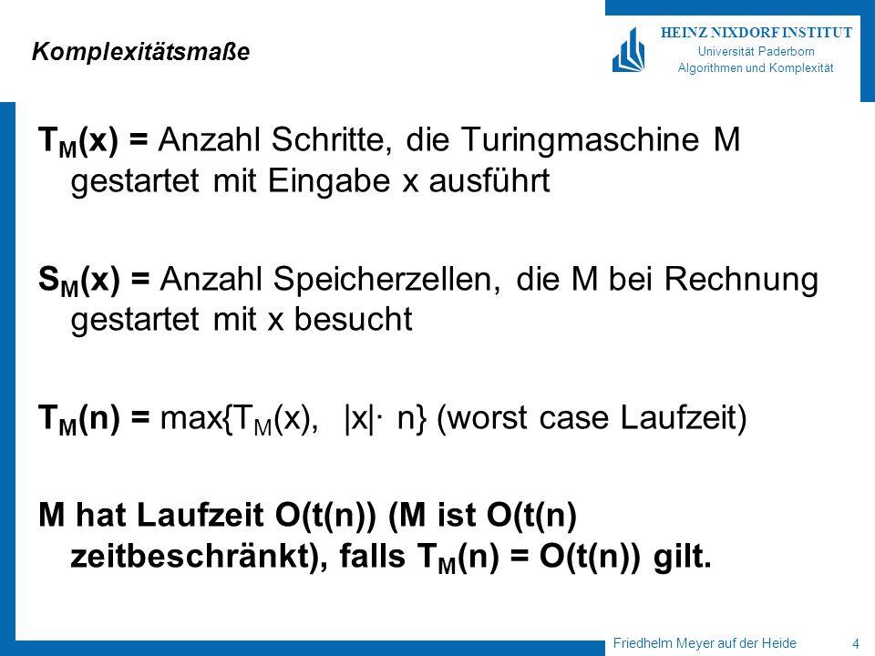 TM(n) = max{TM(x), |x|· n} (worst case Laufzeit)