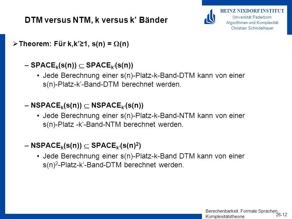 DTM versus NTM, k versus k' Bänder