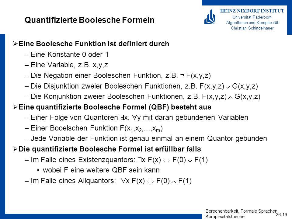 Quantifizierte Boolesche Formeln