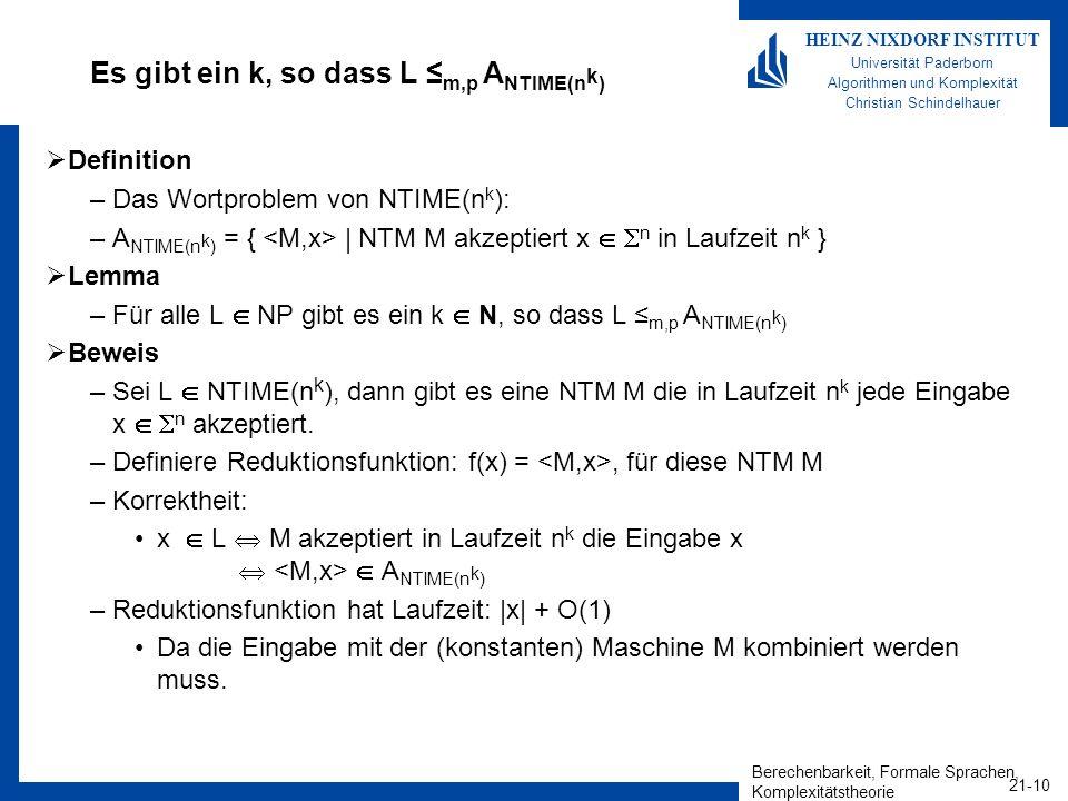 Es gibt ein k, so dass L ≤m,p ANTIME(nk)