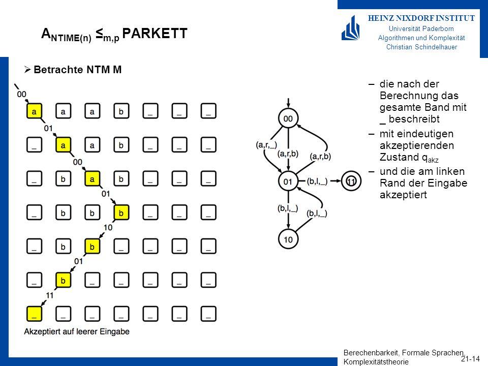 ANTIME(n) ≤m,p PARKETT Betrachte NTM M