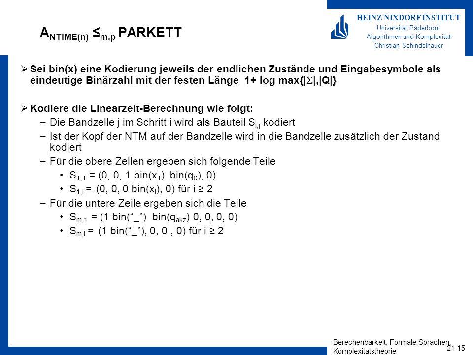 ANTIME(n) ≤m,p PARKETT
