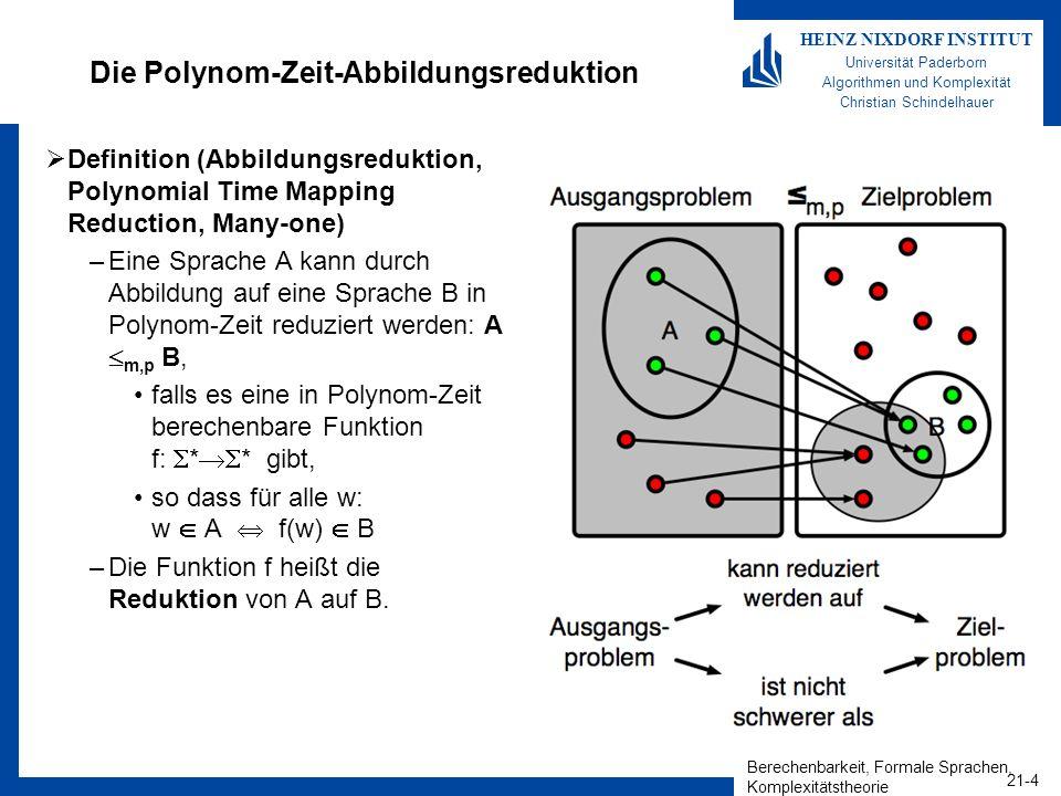 Die Polynom-Zeit-Abbildungsreduktion