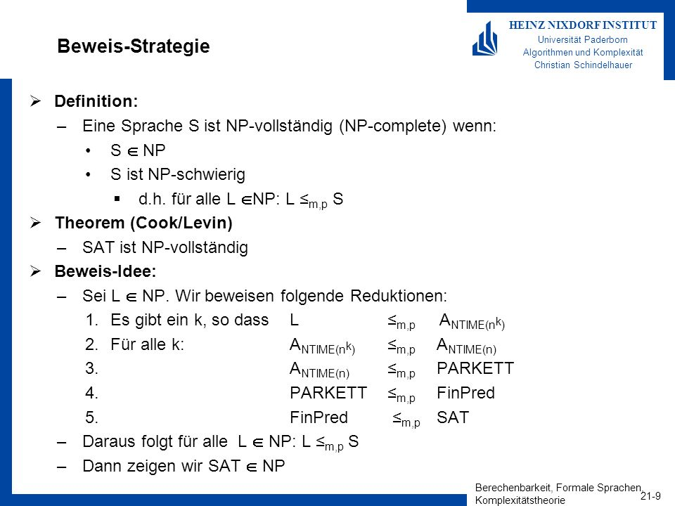 Beweis-Strategie Definition: