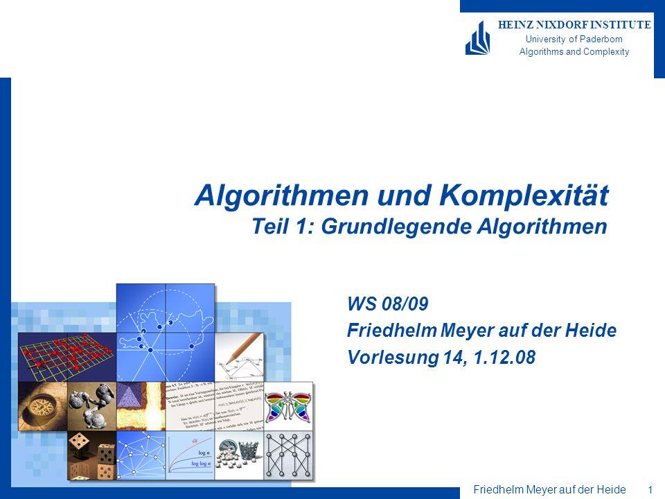 Algorithmen und Komplexität Teil 1: Grundlegende Algorithmen