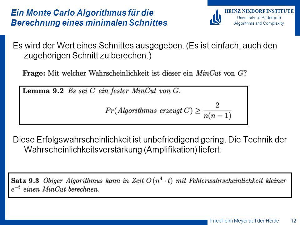 Ein Monte Carlo Algorithmus für die Berechnung eines minimalen Schnittes
