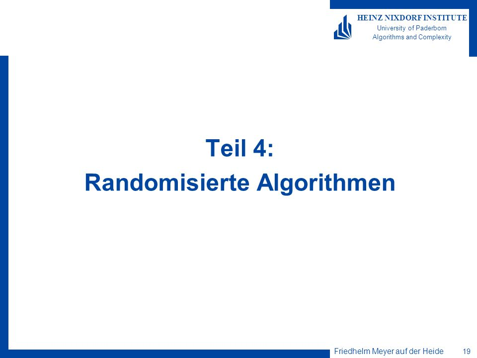 Randomisierte Algorithmen