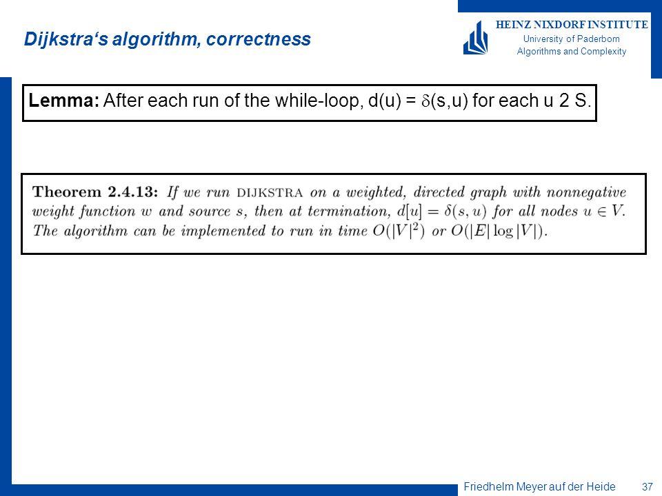 Dijkstra's algorithm, correctness