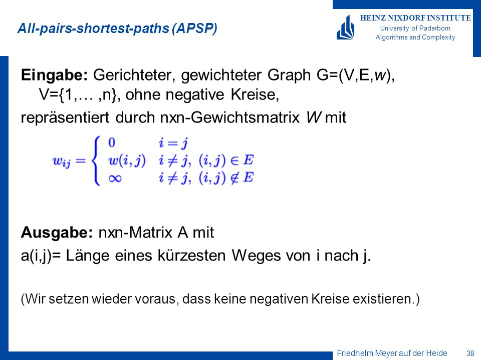 All-pairs-shortest-paths (APSP)